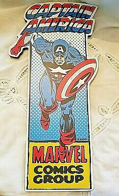 Marvel Wall Decor Plaque Captain America Marvel Super Hero Comic Group