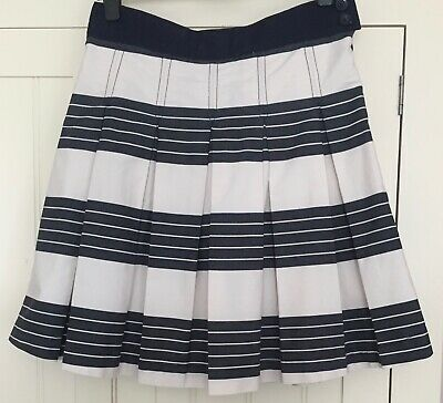 a6bcdfaeb4 joules ladies skirt box pleats navy/cream stripes size 14 good condition