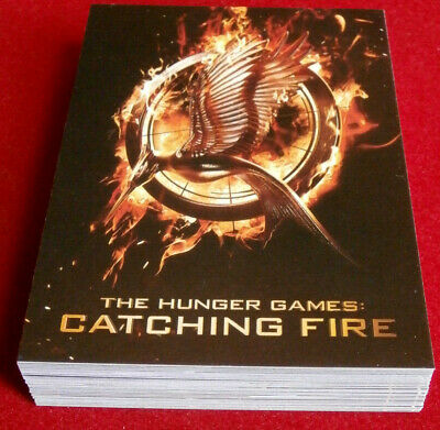 THE HUNGER GAMES - CATCHING FIRE - FULL BASE SET of 40 CARDS - Jennifer Lawrence
