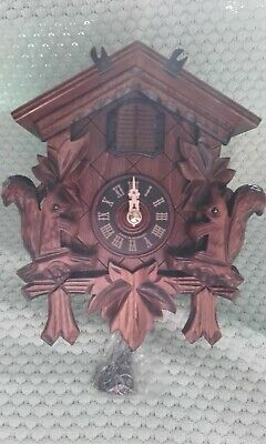 Black Forest Quartz Cuckoo Clock Engstler **BNIB**