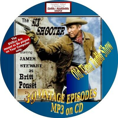 The Six Shooter Old Time Radio Show - 39 Vintage Episodes - James Stewart -Mp3Cd