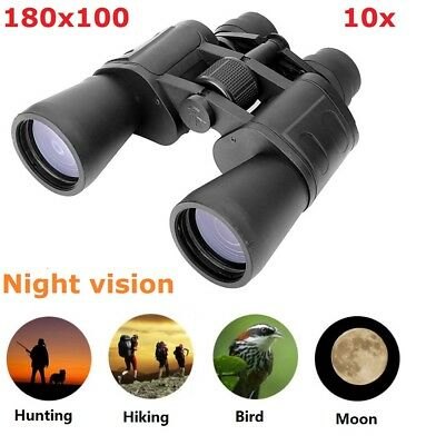 Outdoor 180x100 Zoom Telescope Day Night Vision Travel Binoculars Hunt with Case