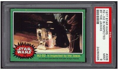1977 Topps Star Wars #228, R2-D2 IS Inspected BY The Jawas PSA 9 MINT