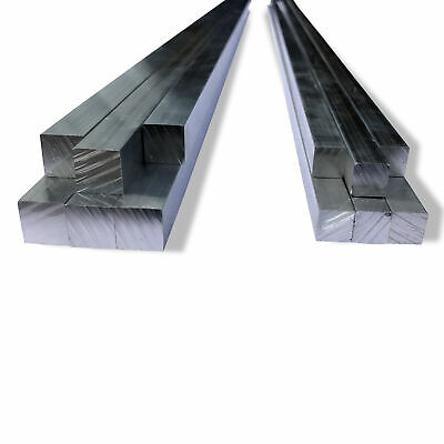Aluminium Solid Square Bar Section Mill Finish 6060 Grade Various Lengths