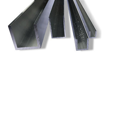 Aluminium U Channel Section Mill Finish 6060 Grade Various Lengths