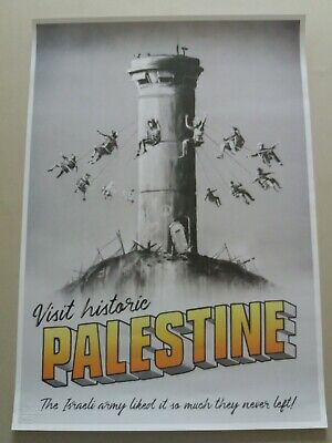 Banksy Walled Off Hotel Palestine poster print, unsigned with receipt