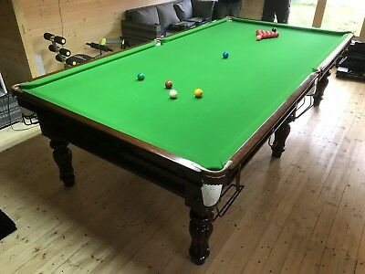10 x 5 ( 3/4 )  Burroughes & Watts Victorian Snooker Table / Free Del & Install