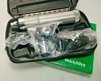 """Welch Allyn 3.5V Complete Diagnostic Set w/ Otoscope Ophthalmoscope + """"C"""" Handle"""