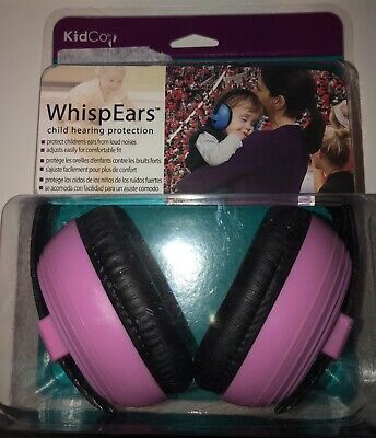 New In Box Kidco Whispears Infant & Child Hearing Protection 0-8 Yrs, Pink