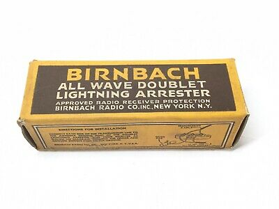 NOS TWO (2)Old Birnbach Ceramic Doublet Lightning Arrester Antenna CB Ham Radio