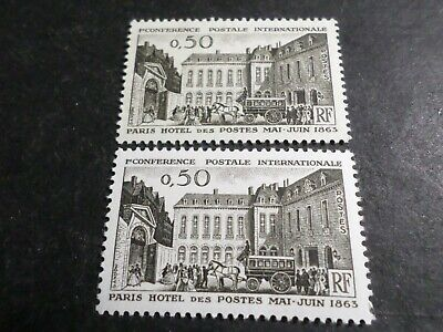 France 1963, Variety' Colours Stamps 1387, Hotel of Posts, New **, MNH