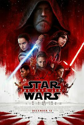 STAR WARS THE LAST JEDI 2017 DS DOUBLE SIDED 27x40 Movie Poster Disney DMR wslip