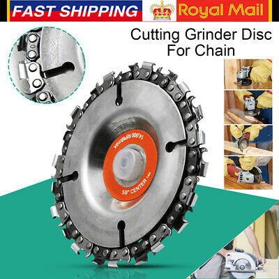 "4"" Angle Grinder Disc 22 Tooth Saw Blade Chain Saw for Carving Wood Plastic UK"