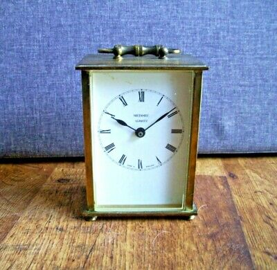 Vintage 1970's Metamec Brass Carriage Clock with Quartz Mechanism (Battery Time)