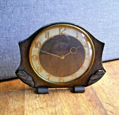 Antique 1930's Smiths 30 Hour Art Deco Slimline Mantel Clock (Wind Up Mechanism)