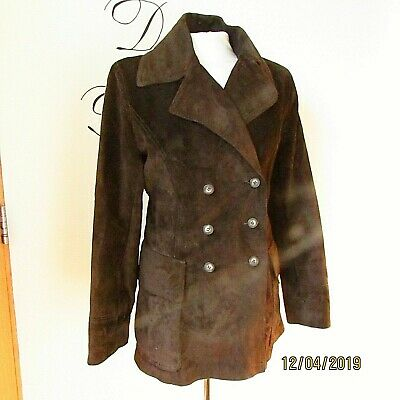 fc6ac49f8264 Vintage Retro Womens Stunning Real Leather Suede Jacket Coat Lined Size 12
