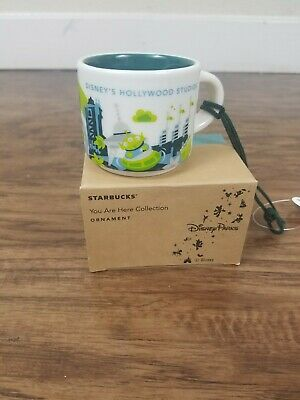 Disney Parks Starbucks Hollywood Studios Mug Ornament 3rd Alien New with Box