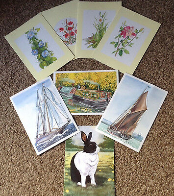 16 High quality greeting cards/Notelets blank inside for all occasions