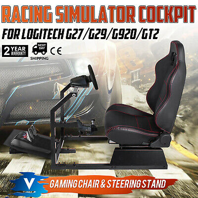 Racing Simulator Cockpit Gaming Seat With Stand Anti-rust Height Adjustable