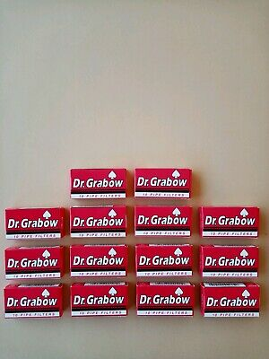 New Dr. Grabow Pipe Filters 14 Boxes (10 Pipe Filters Per Box)