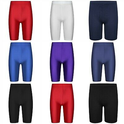 Girls Kids Stretch Cycling Lycra PE School Uniform Dance Gym Swim Shorts
