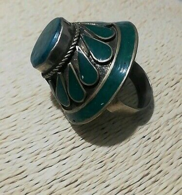 HUGE VINTAGE GYPSY BOHO chunky RING Islamic Persian AFGHAN old traditiona Tribal