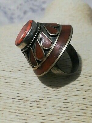 HUGE VINTAGE GYPSY BOHO chunky RING Islamic AFGHAN Persian traditional TRIBAL