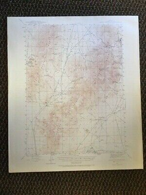 Vintage USGS Osgood Mountains Nevada 1945 Topographic Map 1:62500