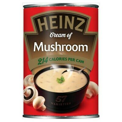 Heinz Cream of Mushroom Soup 400g X 12 cans