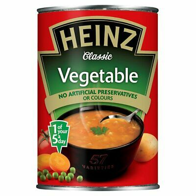 Heinz Classic Vegetable soup 400g X 12 cans