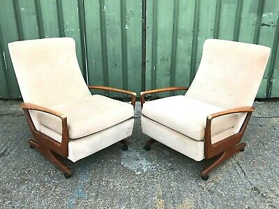 2x RARE iconic Parker Knoll PK 1020 Strone reclining armchair recliner chairs