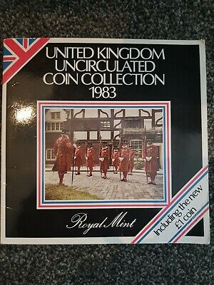 1983 Royal Mint Unc Coin Set Coinage of Great Britain and Northern Ireland