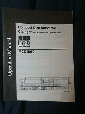 BSR MCD-8050 Compact Disc Automatic Changer Original Instruction Manual