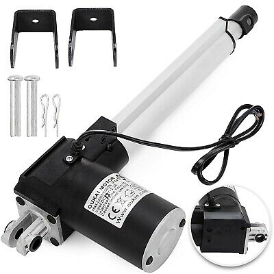 "8"" Stroke Linear Actuator DC 12V Electric Motor 6000N 200mm Lifting Table"
