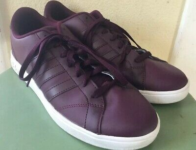 newest collection c60b1 bc4b6 Womens Adidas Neo Cloudfoam shoes size 9 M All Leather purple Sneakers