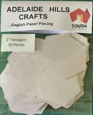 50 x 1 inch Hexagon's English Paper Piecing Laser Cut Papers Quilting Sewing