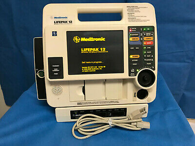 LIFEPAK 12 Biphasic Monitor AED Pacer Printer AC Tested Warranty Physio-Control