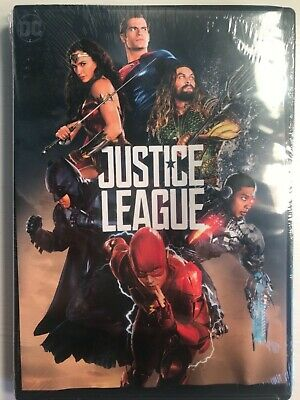 Justice League DVD 2018 packaging misaligned BRAND NEW!