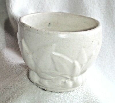 White Leaves and Berries jardinieres McCoy Pottery Small jard 1930s planter pot