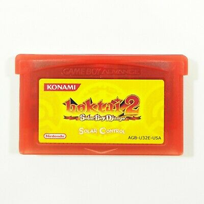 Boktai 2: Solar Boy Django Solar Control Gameboy Advance GBA Custom Cartridge