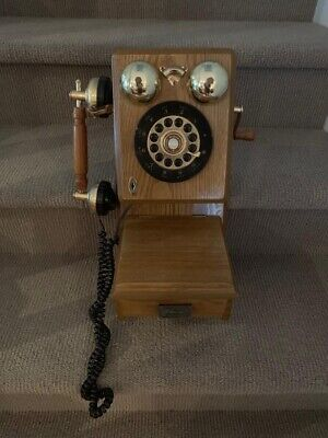 Vintage Telephone Old Corded Phone Wall Mount