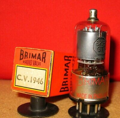 6K8 GT / CV1946 Tube (~6J8 G / GT) .. Military Spec .. NOS For 1940's radios.