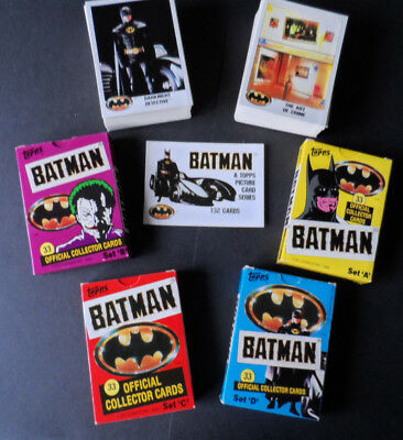 Topps Batman 1989 Uk Ireland 132 Card Set And 4 Original Boxes Rare