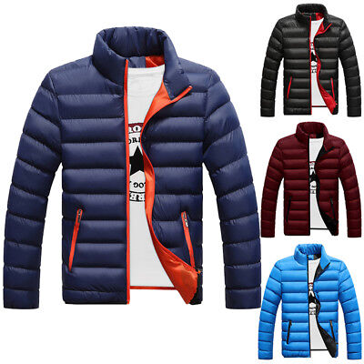 Men Winter Lightweight Down Jacket Quilted Padded Puffer Bubble Outwear Overcoat