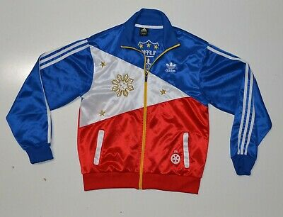 Adidas Philippine Flag Track Jacket Unisex Size L Manny Pacquiao Soccer RARE