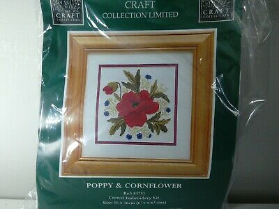 The Craft Collection - Crewel Embroidery kit - Poppy and Cornflower