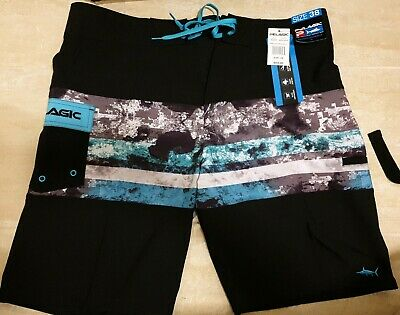 ae5347312c PELAGIC 4 STRETCH Tek Men's Fish Finder Graphic Boardshorts Size 30 ...