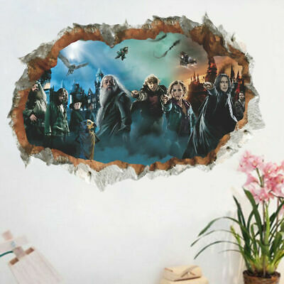 Harry Potter 3D Wall Hole Poster Hogwarts Wall Stickers Wizarding World For ROOM