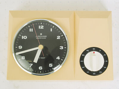 Vintage Junghans ATO MAT kitchen wall clock with timer