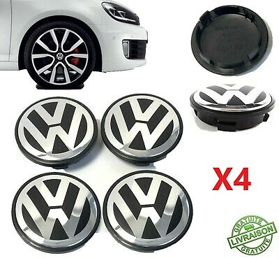 4X Centre de Roue 65mm VW Cache Moyeu Golf 5 6 7 Polo 5 Touran Jante Enjoliveur